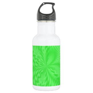 Bright Green Funky Pattern 18oz Water Bottle