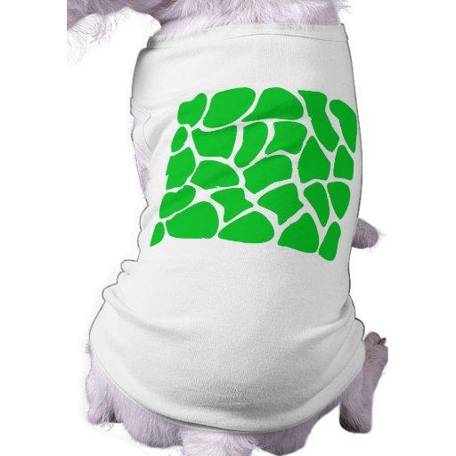 Bright Green Giraffe Print Pattern. Dog Tshirt
