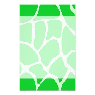 Bright Green Giraffe Print Pattern. Flyers
