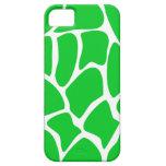 Bright Green Giraffe Print Pattern. iPhone 5 Cases