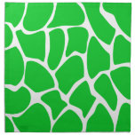 Bright Green Giraffe Print Pattern. Napkins