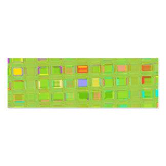 Bright Green Glass Mosaic Tiles custom Digital Art Business Card Templates