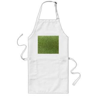 Bright green glitter apron