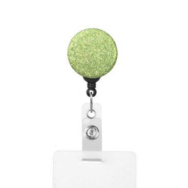 Beach Themed Bright Green Glitter Sparkles Badge Holder