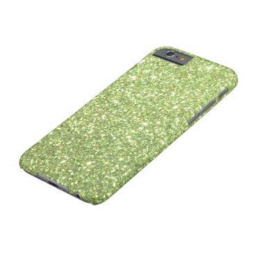 McTiffany Tiffany Aqua Bright Green Glitter Sparkles Barely There iPhone 6 Case
