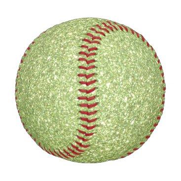Beach Themed Bright Green Glitter Sparkles Baseball