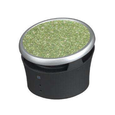Beach Themed Bright Green Glitter Sparkles Bluetooth Speaker
