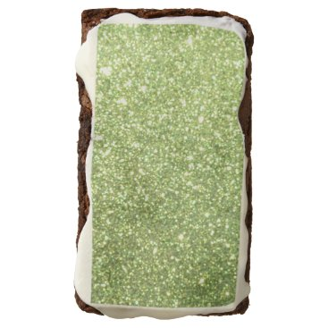 Beach Themed Bright Green Glitter Sparkles Brownie