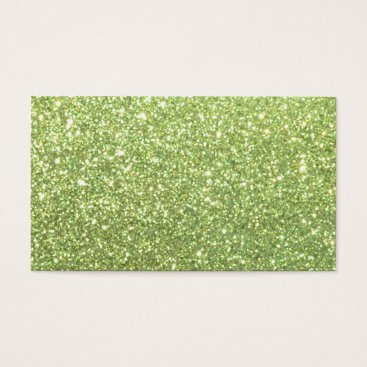 Beach Themed Bright Green Glitter Sparkles Business Card