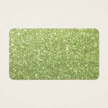 Beach Themed Bright Green Glitter Sparkles Business Card