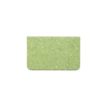 Beach Themed Bright Green Glitter Sparkles Business Card Holder