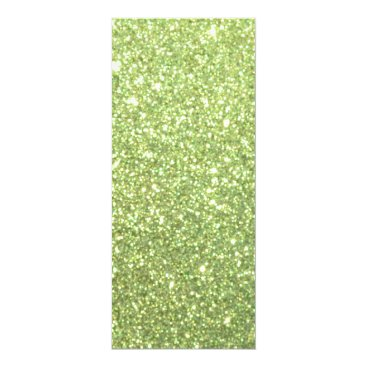 Beach Themed Bright Green Glitter Sparkles Card
