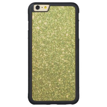 Beach Themed Bright Green Glitter Sparkles Carved Maple iPhone 6 Plus Bumper Case