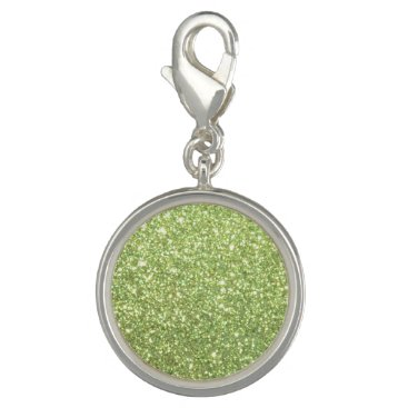 Beach Themed Bright Green Glitter Sparkles Charms