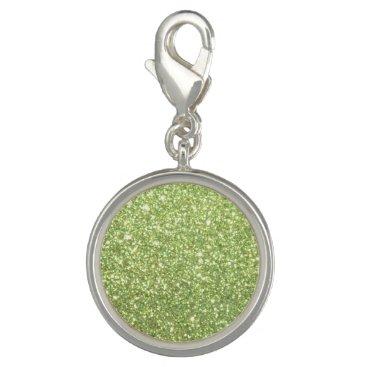 Beach Themed Bright Green Glitter Sparkles Charms