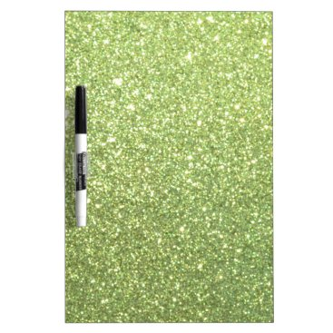 Beach Themed Bright Green Glitter Sparkles Dry Erase Board