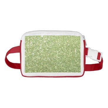 Beach Themed Bright Green Glitter Sparkles Fanny Pack