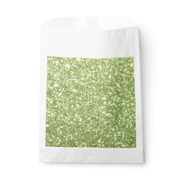 Beach Themed Bright Green Glitter Sparkles Favor Bag