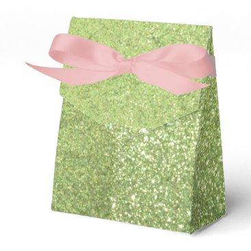 Beach Themed Bright Green Glitter Sparkles Favor Box