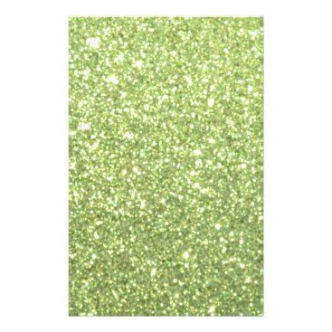 Beach Themed Bright Green Glitter Sparkles Flyer