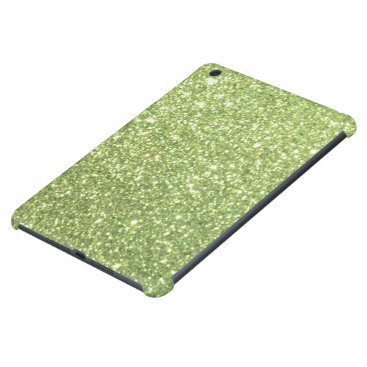 Beach Themed Bright Green Glitter Sparkles iPad Mini Retina Covers
