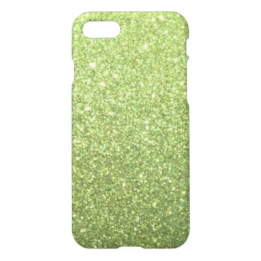 Beach Themed Bright Green Glitter Sparkles iPhone 7 Case