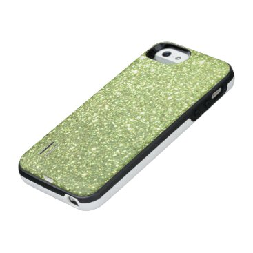 Beach Themed Bright Green Glitter Sparkles iPhone SE/5/5s Battery Case
