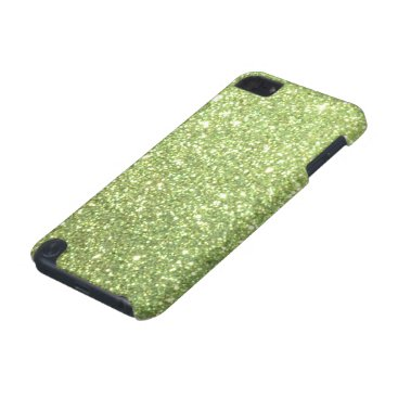 Beach Themed Bright Green Glitter Sparkles iPod Touch 5G Case