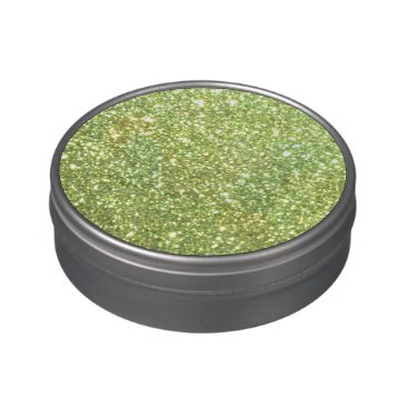 Beach Themed Bright Green Glitter Sparkles Jelly Belly Tins
