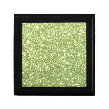 Beach Themed Bright Green Glitter Sparkles Jewelry Box