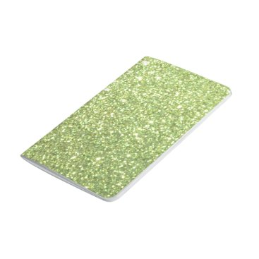 Beach Themed Bright Green Glitter Sparkles Journal
