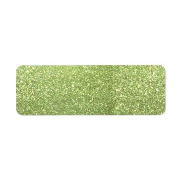 Beach Themed Bright Green Glitter Sparkles Label