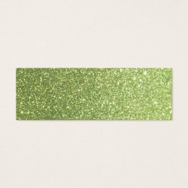 Beach Themed Bright Green Glitter Sparkles Mini Business Card