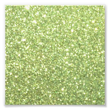 Beach Themed Bright Green Glitter Sparkles Photo Print