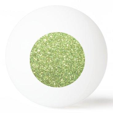 Beach Themed Bright Green Glitter Sparkles Ping-Pong Ball