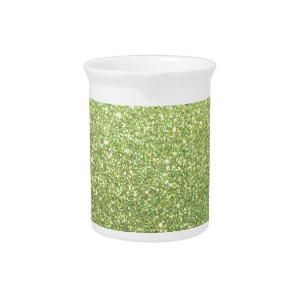 Bright Green Glitter Sparkles Pitcher
