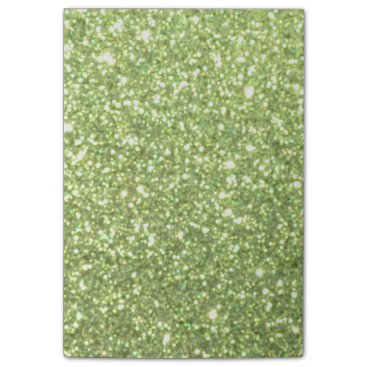 Beach Themed Bright Green Glitter Sparkles Post-it Notes