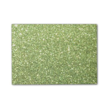 McTiffany Tiffany Aqua Bright Green Glitter Sparkles Post-it Notes
