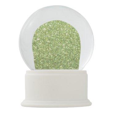 Beach Themed Bright Green Glitter Sparkles Snow Globe