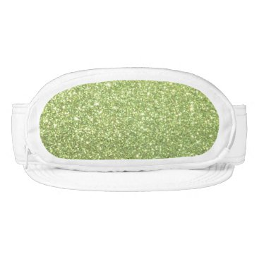 Beach Themed Bright Green Glitter Sparkles Visor