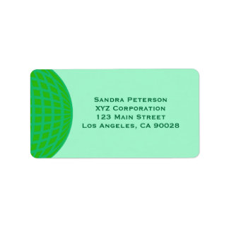 Bright Green Global Business Label