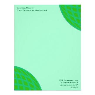 Bright Green Global Business Letterhead