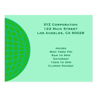 Bright Green Global Business Postcards