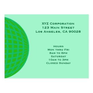 Bright Green Global Business Postcard