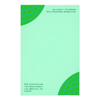 Bright Green Global Business Stationery