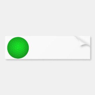 Bright Green Golf Ball Bumper Stickers