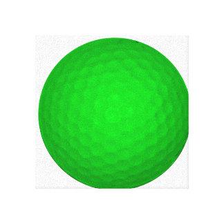 Bright Green Golf Ball Canvas Prints