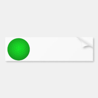 Bright Green Golf Ball Car Bumper Sticker