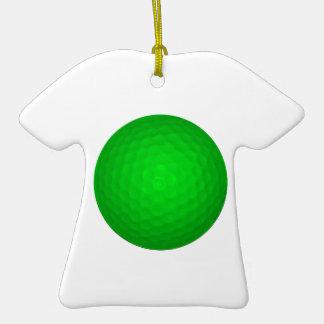Bright Green Golf Ball Christmas Tree Ornaments