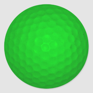 Bright Green Golf Ball Classic Round Sticker